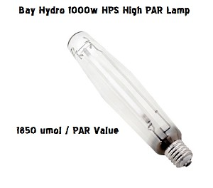 BAY HYDRO High PAR 1000W SUPER Enhanced HPS 145K / 1850 umol