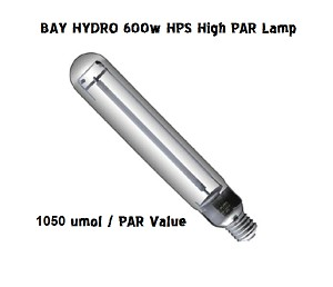 BAY HYDRO High PAR 600W SUPER Enhanced HPS 92K / 1050 umol