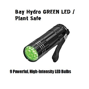 Bay Hydro Plant Safe Super Bright GREEN LED Torch FlashLight