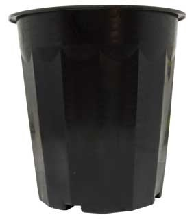 HydroFarm Black Plastic Pot, 16 Quart, Pack of 50
