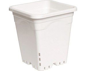 Active Aqua 9' x 9' White Square Pots - 10' Tall - 24 PER CASE