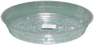 "HydroFarm 6"" Clear Saucers - Pack of 25"