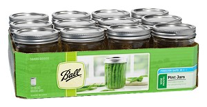 Ball Jar 16oz/1 Pint Wide Mouth - 12 PACK