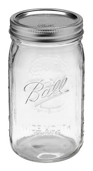 Ball Jar 32oz (One Quart) Wide Mouth - 12 PACK