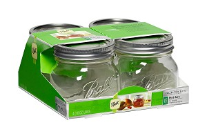 Ball Jar - Collection Elite Series - 16oz Wide Mouth - Case of 16 (4 x 4 Packs)