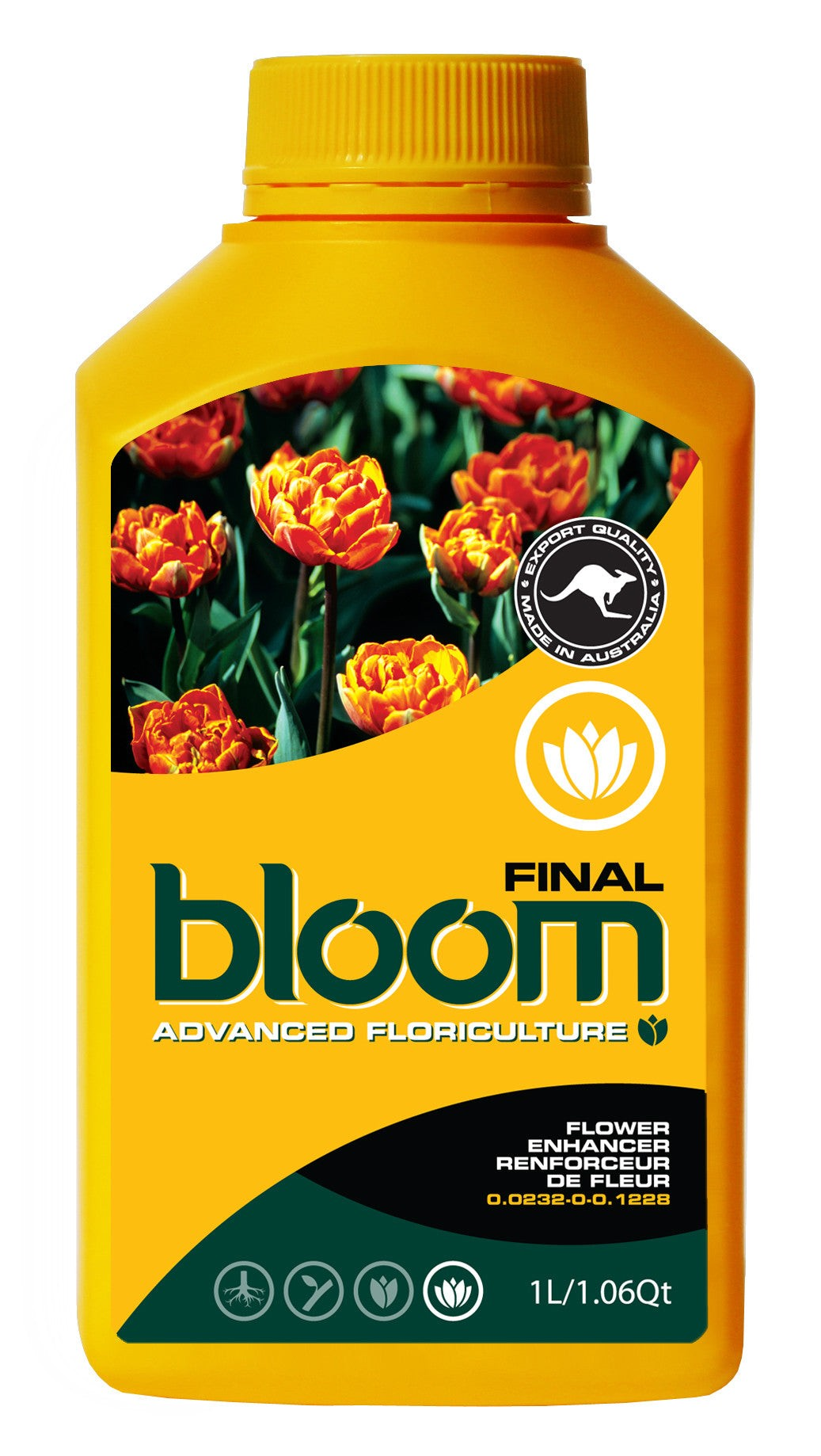 Advanced Floriculture Bloom FINAL 2.5 Liter Advanced Floriculture Yellow Bottle