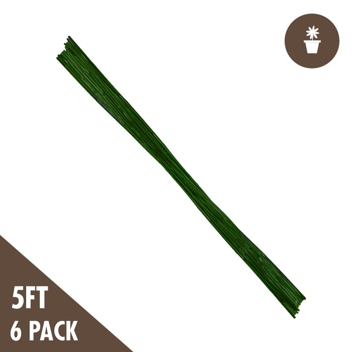 DL 5' Green Bamboo Stakes Heavy Duty (6 per PACK)